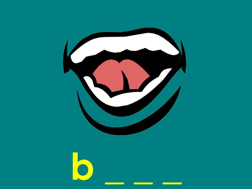 b _ _ _