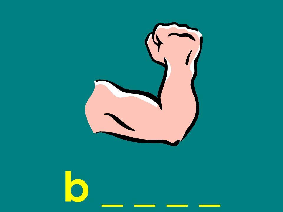 b _ _ _ _