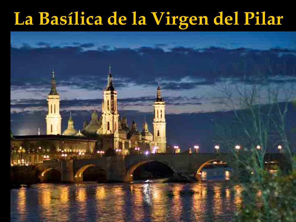 La Basílica de la Virgen del Pilar Fruto de las grandes peregrinaciones, en 1872 se concluyeron las diversas capillas y las cúpulas; más tarde se añadirían las cuatro torres, la última de las cuales no se concluyó hasta 1961.