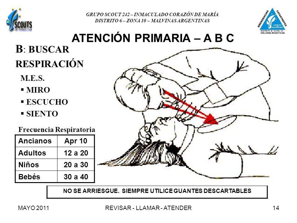 MAYO 2011REVISAR - LLAMAR - ATENDER14 B : BUSCAR RESPIRACIÓN M.E.S.