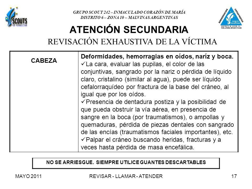 MAYO 2011REVISAR - LLAMAR - ATENDER17 NO SE ARRIESGUE.