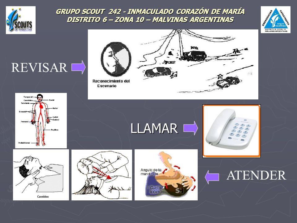 GRUPO SCOUT 242 - INMACULADO CORAZÓN DE MARÍA DISTRITO 6 – ZONA 10 – MALVINAS ARGENTINAS LLAMAR ATENDER REVISAR