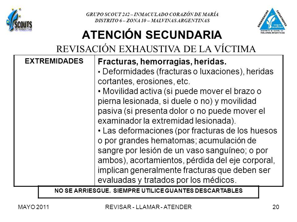 MAYO 2011REVISAR - LLAMAR - ATENDER20 ATENCIÓN SECUNDARIA NO SE ARRIESGUE.