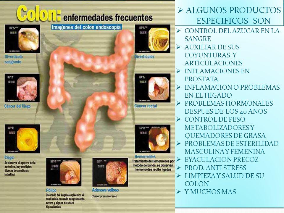 ALGUNOS PRODUCTOS ESPECIFICOS SON CONTROL DEL AZUCAR EN LA SANGRE AUXILIAR DE SUS COYUNTURAS. Y ARTICULACIONES INFLAMACIONES EN PROSTATA INFLAMACION O