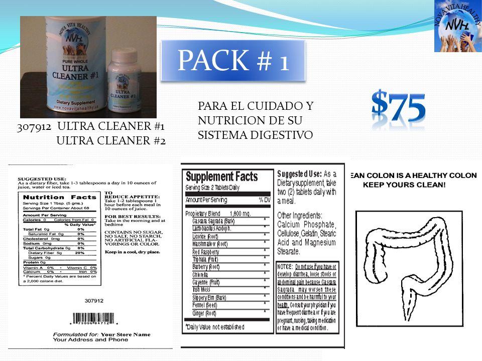 307912 ULTRA CLEANER #1 ULTRA CLEANER #2 PACK # 1 PARA EL CUIDADO Y NUTRICION DE SU SISTEMA DIGESTIVO