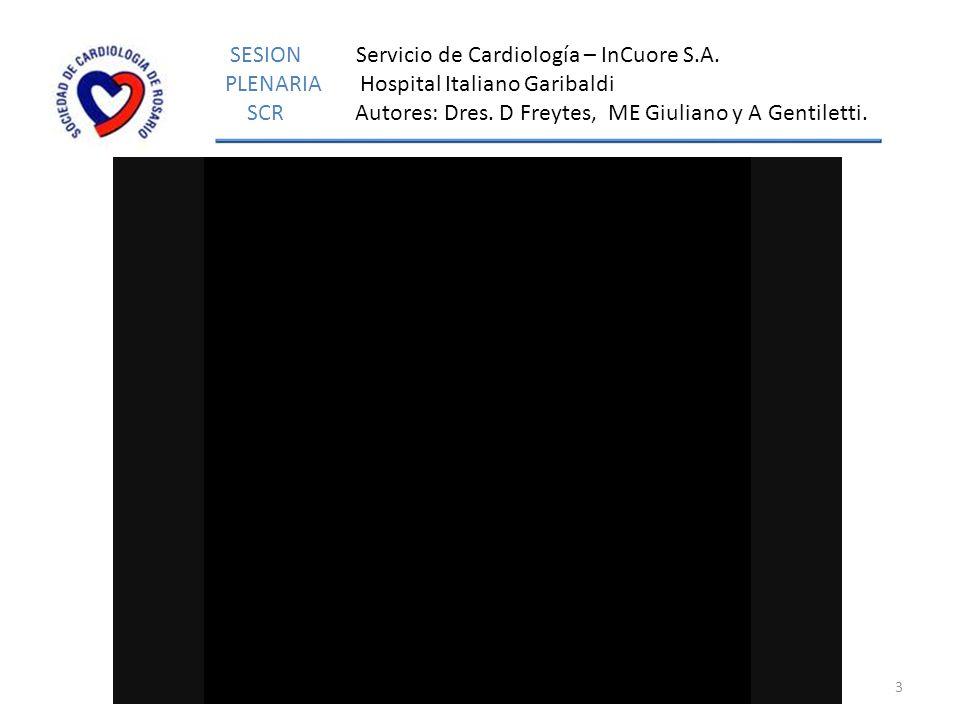3 www.cardiorosario.org.ar SESION Servicio de Cardiología – InCuore S.A.