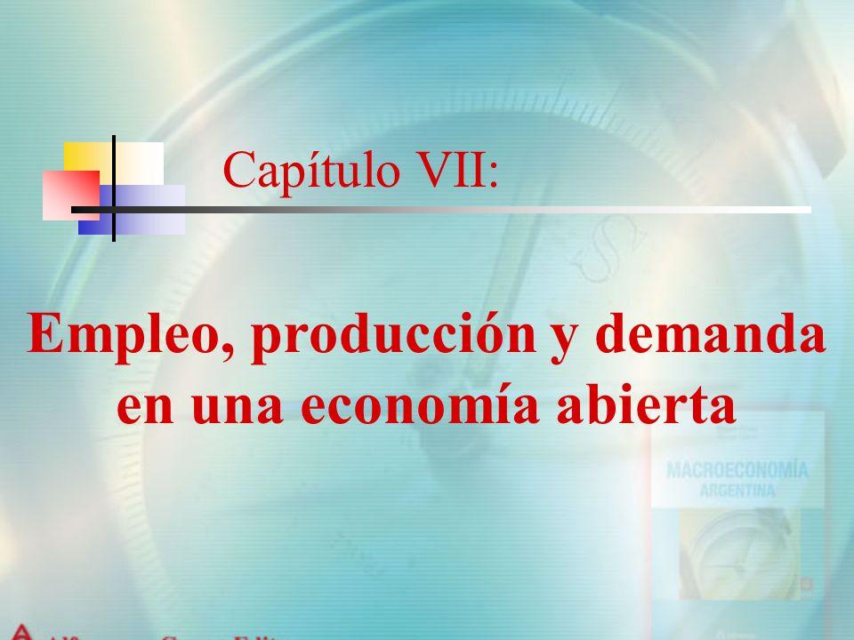 Capítulo VII: Empleo, producción y demanda en una economía abierta
