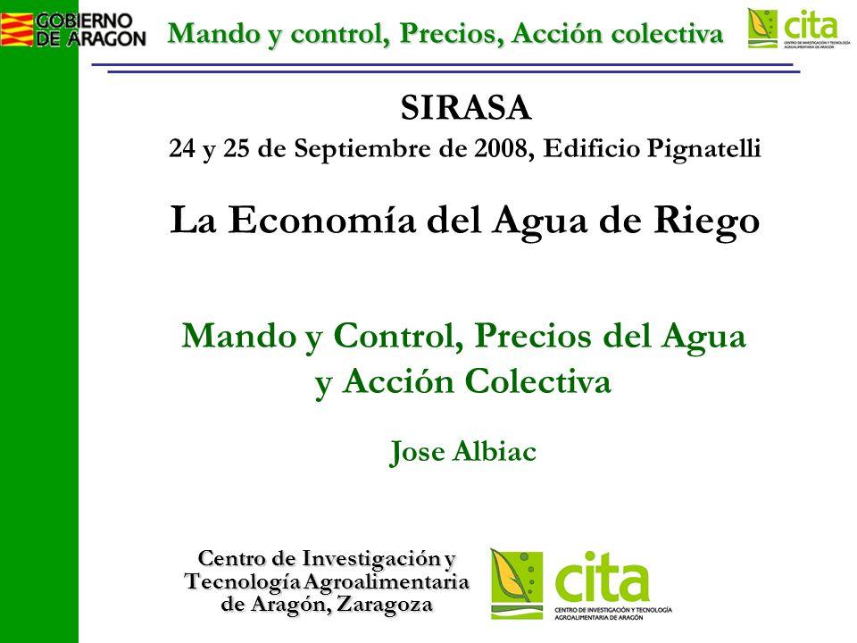 Mando y control, Precios, Acción colectiva Reducción del arrastre de sales, al modernizar el regadío (-50%)