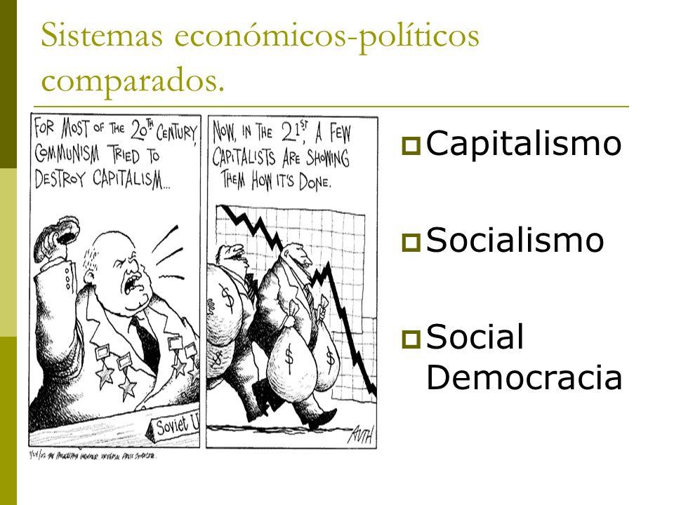 Sistemas económicos-políticos comparados. Capitalismo Socialismo Social Democracia