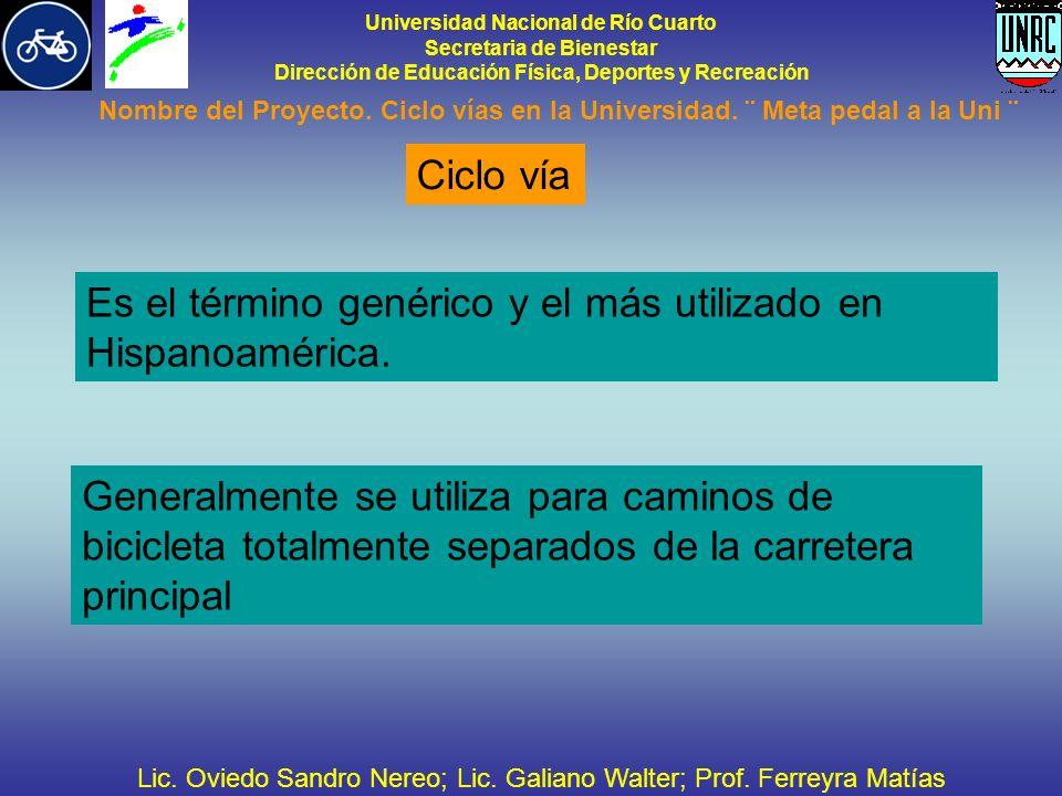 Universidad Nacional de Río Cuarto Secretaria de Bienestar Dirección de Educación Física, Deportes y Recreación Nombre del Proyecto.
