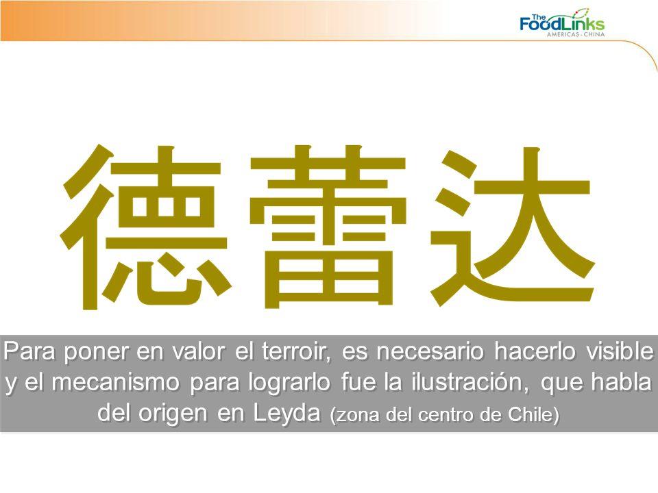 Para poner en valor el terroir, es necesario hacerlo visible y el mecanismo para lograrlo fue la ilustración, que habla del origen en Leyda (zona del centro de Chile)