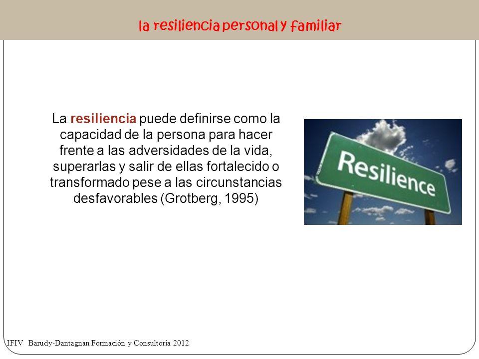 La resiliencia puede definirse como la capacidad de la persona para hacer frente a las adversidades de la vida, superarlas y salir de ellas fortalecid