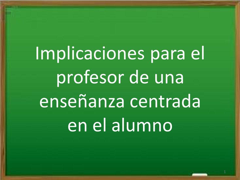 Implicaciones para el profesor de una enseñanza centrada en el alumno 1