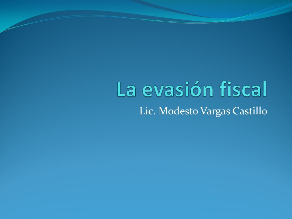 Lic. Modesto Vargas Castillo