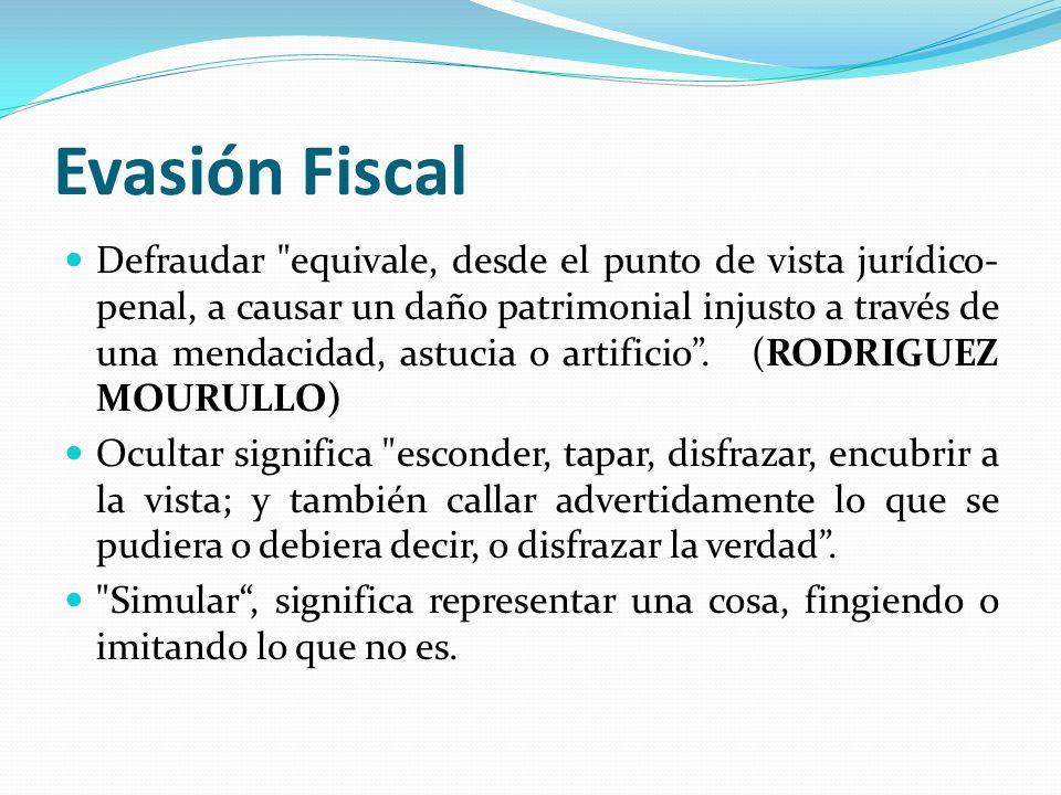 Evasión Fiscal Defraudar