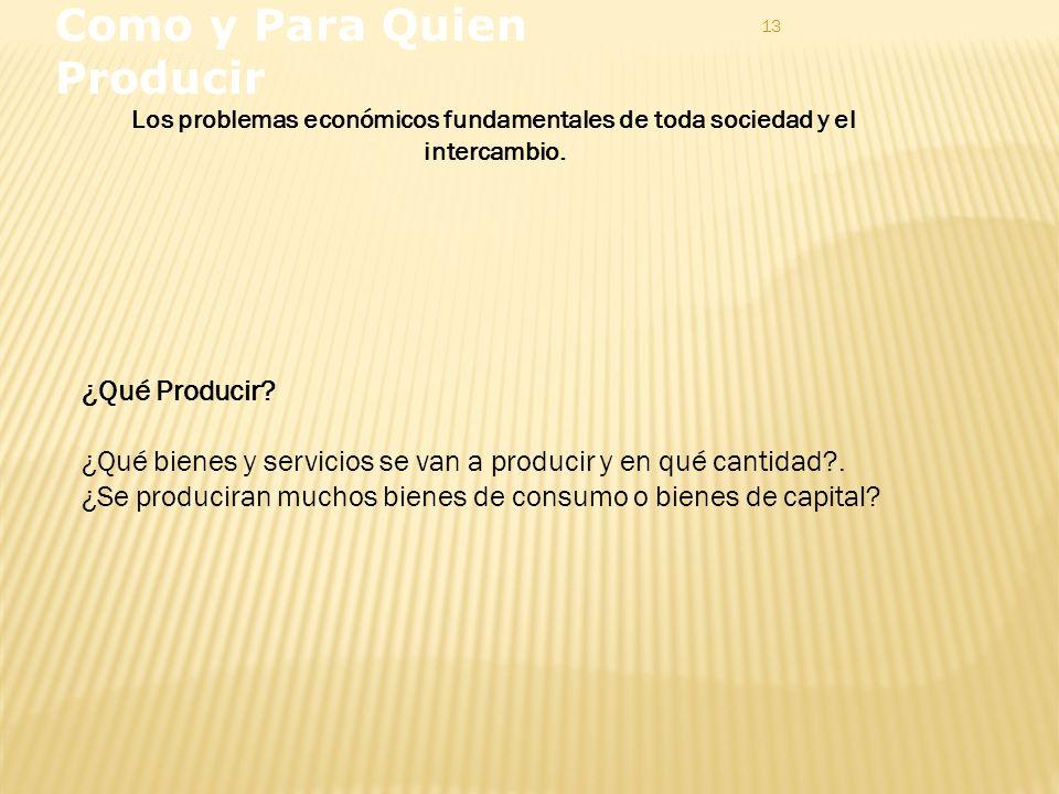 13 Como y Para Quien Producir ¿Qué Producir.
