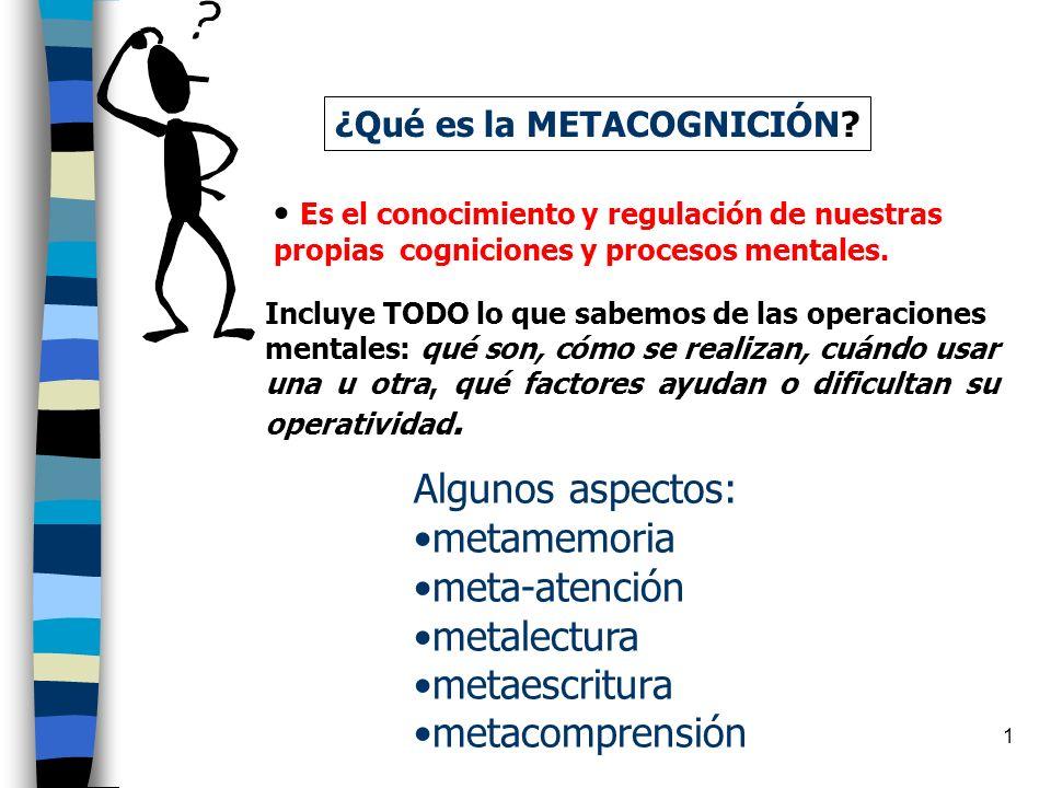 1 ¿Qué es la METACOGNICIÓN.