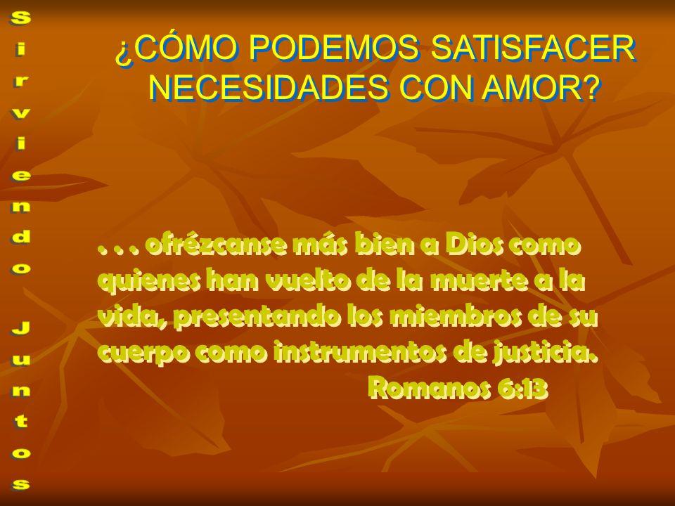 ... ofrézcanse más bien a Dios como quienes han vuelto de la muerte a la vida, presentando los miembros de su cuerpo como instrumentos de justicia. Ro