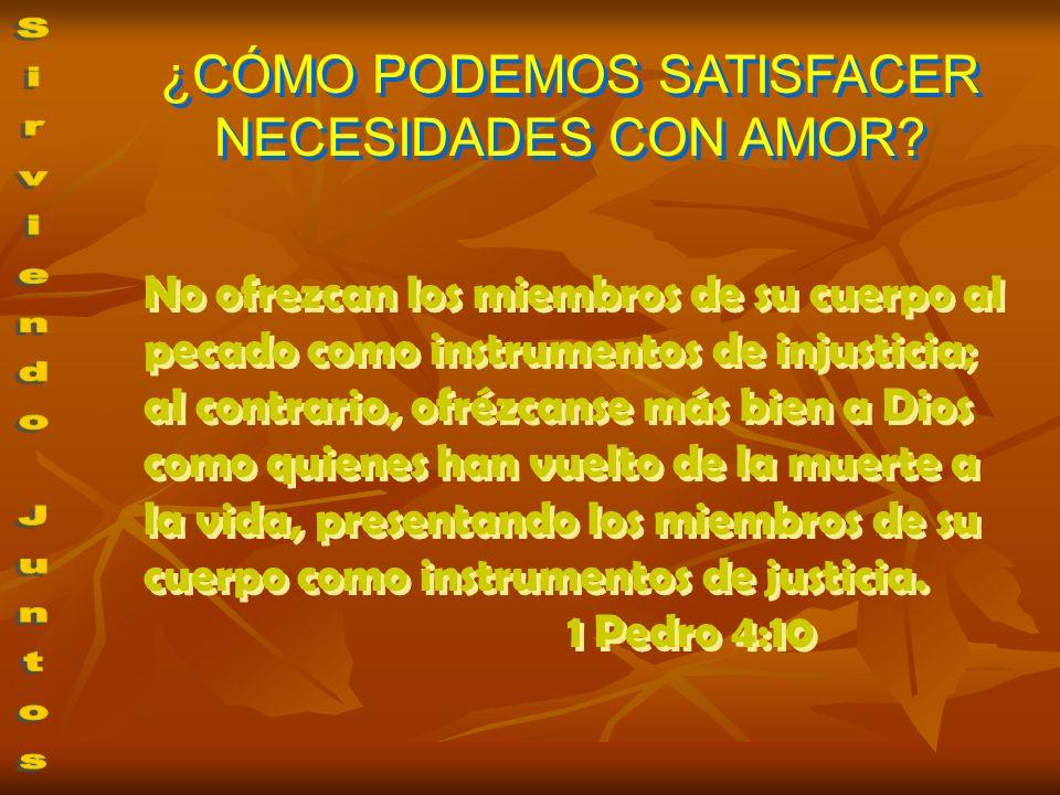 No ofrezcan los miembros de su cuerpo al pecado como instrumentos de injusticia; al contrario, ofrézcanse más bien a Dios como quienes han vuelto de l