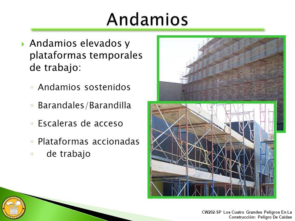 Todo los agujeros y excavaciones abiertas deben ser protegidos o resguardados. CW202-SP Los Cuatro Grandes Peligros En La Construcción: Peligro De Caí
