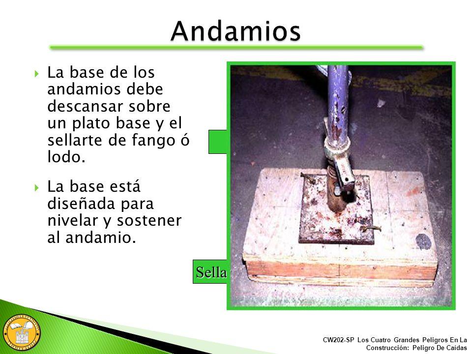 Andamios elevados y plataformas temporales de trabajo: Andamios sostenidos Barandales/Barandilla Escaleras de acceso Plataformas accionadas de trabajo