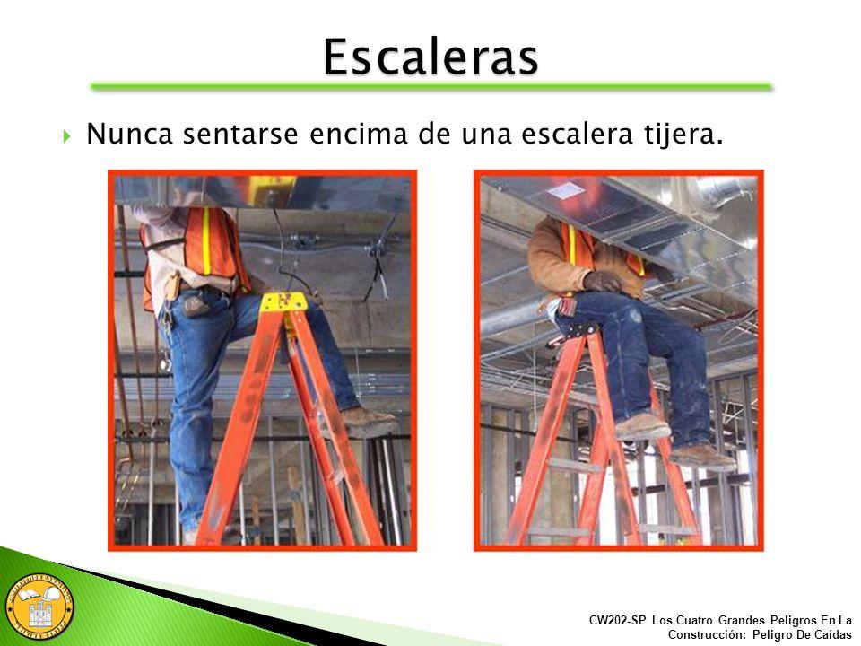 Siempre utiliza el equipo adecuado para trabajar: Escaleras Montacargas Andamios CW202-SP Los Cuatro Grandes Peligros En La Construcción: Peligro De C