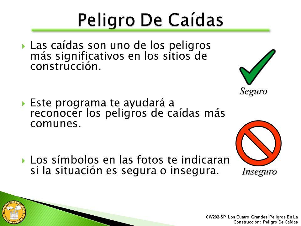 Todo los agujeros y excavaciones abiertas deben ser protegidos o resguardados.