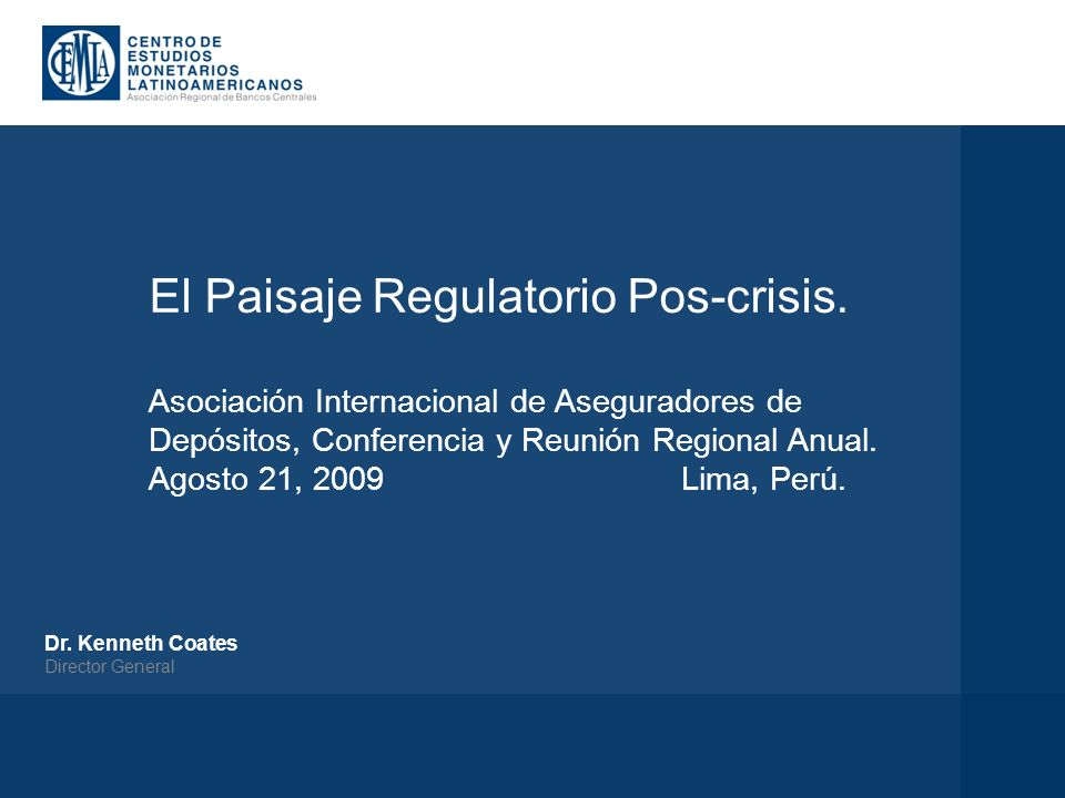 El Paisaje Regulatorio Pos-crisis.