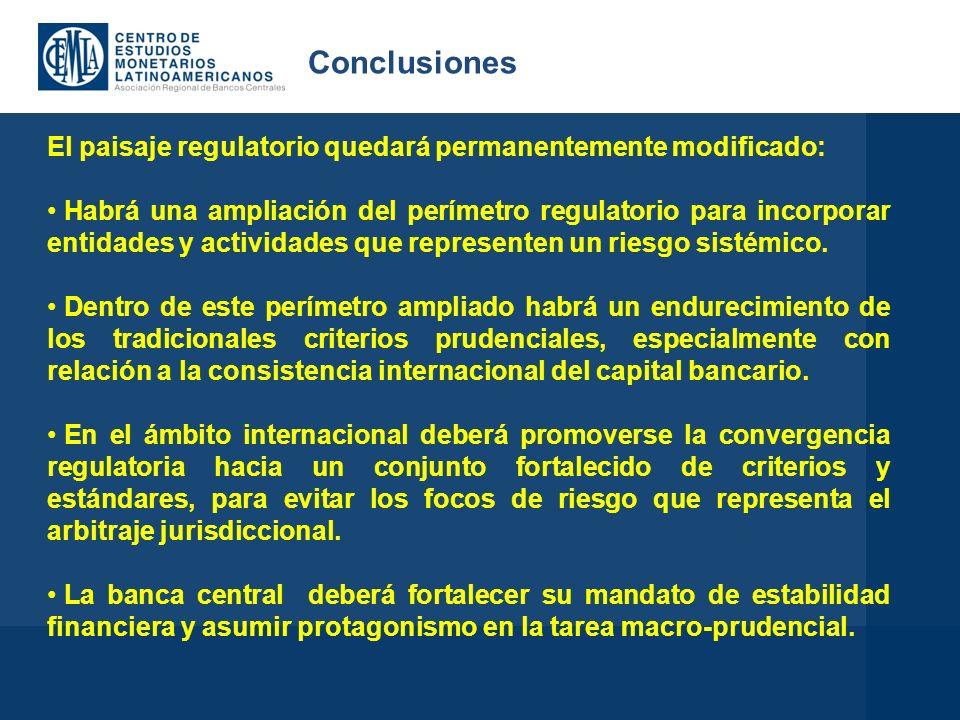 El paisaje regulatorio quedará permanentemente modificado: Habrá una ampliación del perímetro regulatorio para incorporar entidades y actividades que representen un riesgo sistémico.