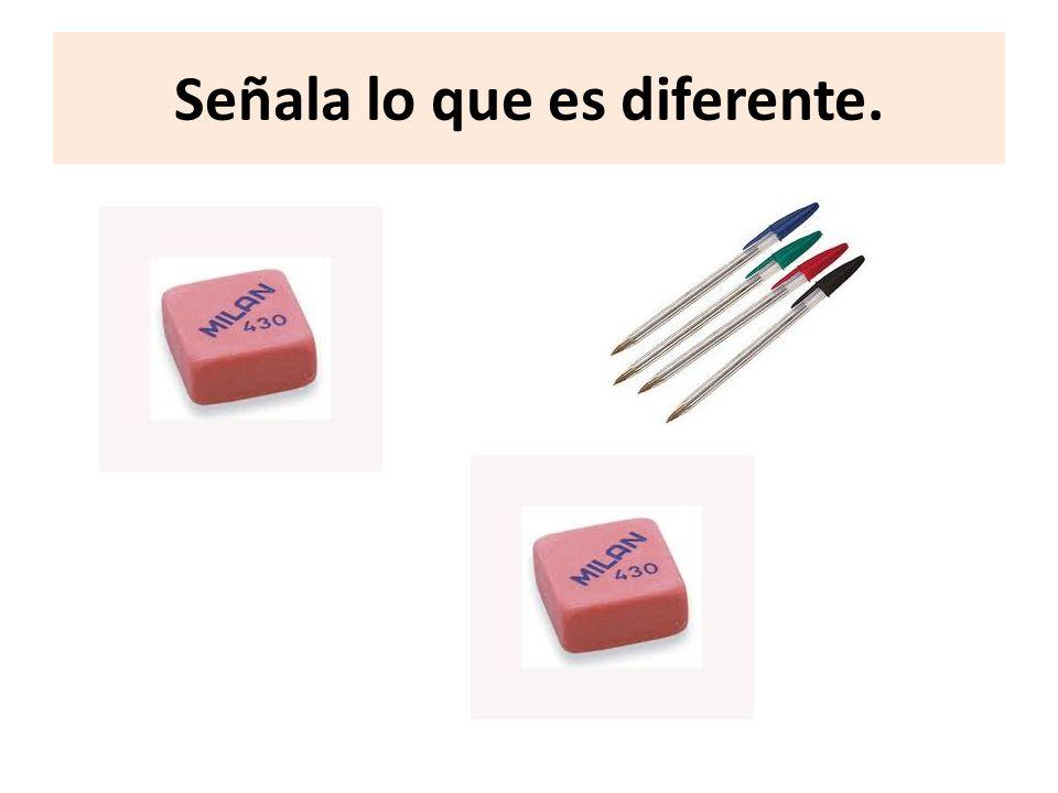 Señala lo que es diferente.