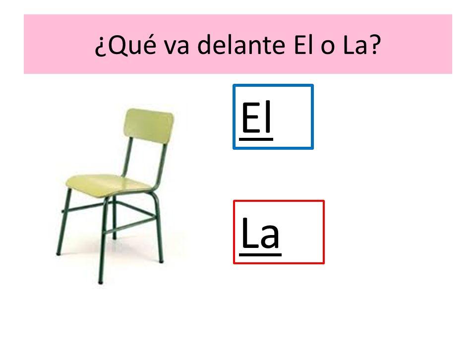 ¿Qué va delante El o La? El La