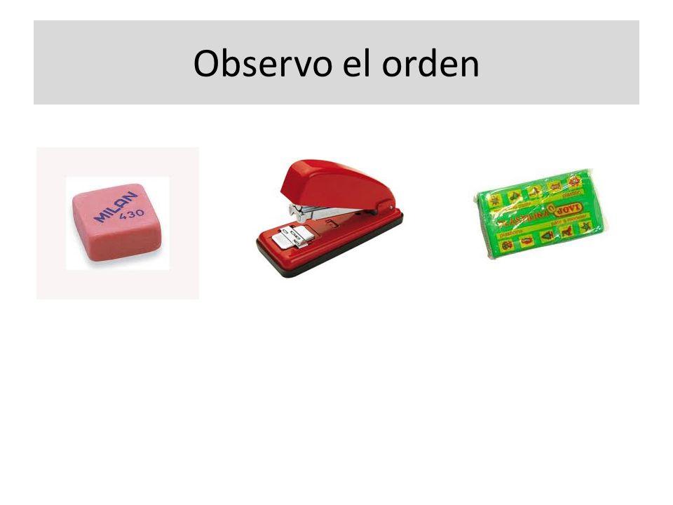 Observo el orden