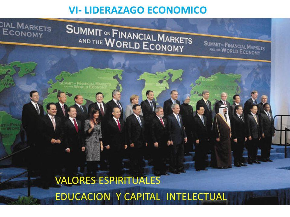 VI- LIDERAZAGO ECONOMICO VALORES ESPIRITUALES EDUCACION Y CAPITAL INTELECTUAL