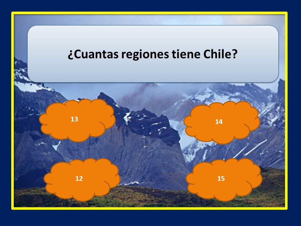 ¿Cuantas regiones tiene Chile? 13 1512 14