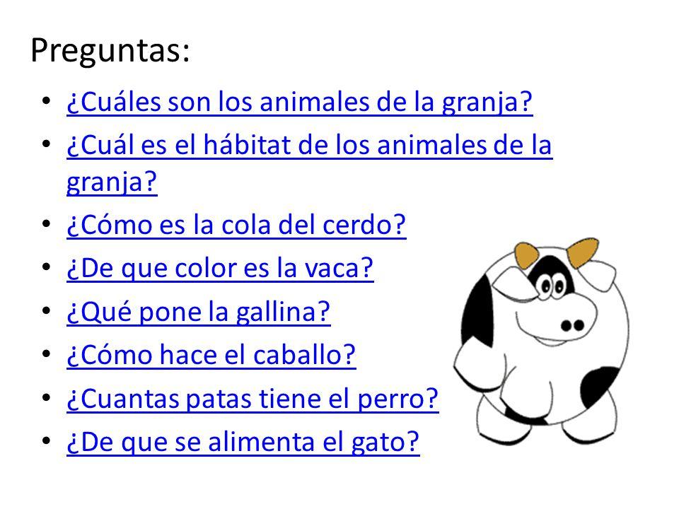 Objetivos: Los estudiantes podrán identificar cuales son los animales de la granja. Los estudiantes podrán reconocer algunas de sus características.