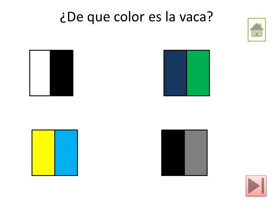 ¿De que color es la vaca?