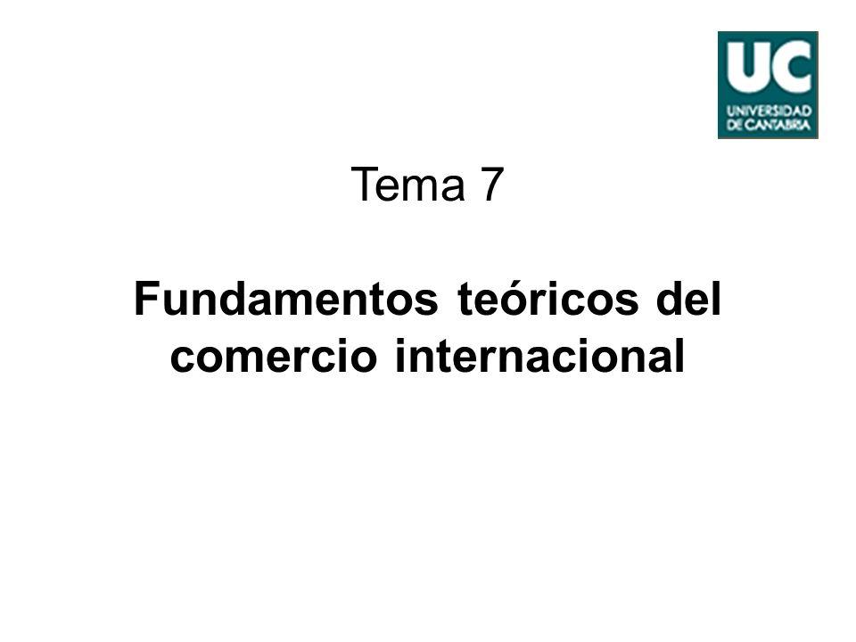 Tema 7 Fundamentos teóricos del comercio internacional