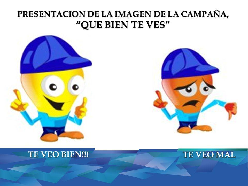 PRESENTACION DE LA IMAGEN DE LA CAMPAÑA, QUE BIEN TE VES TE VEO BIEN!!! TE VEO MAL