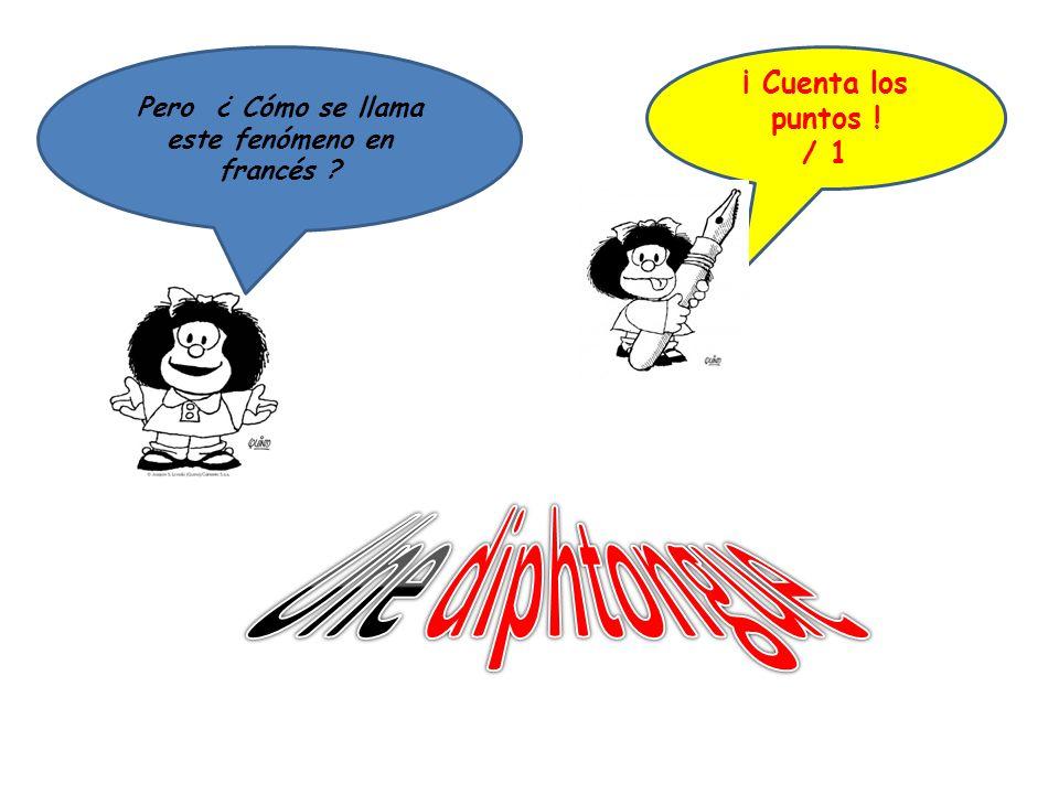 Pero ¿ Cómo se llama este fenómeno en francés ? ¡ Cuenta los puntos ! / 1