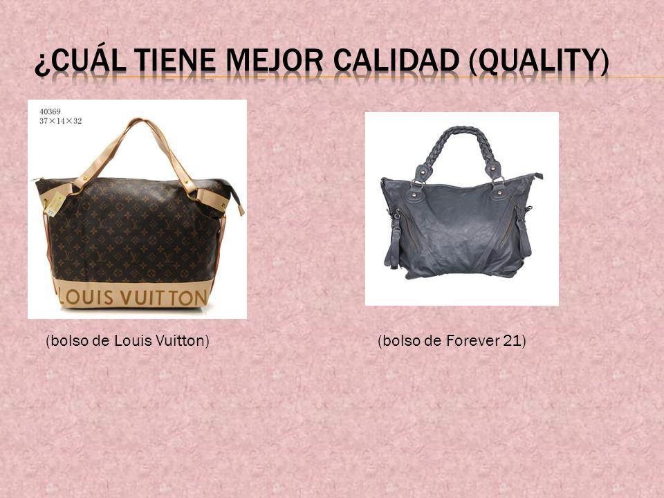(bolso de Louis Vuitton)(bolso de Forever 21)