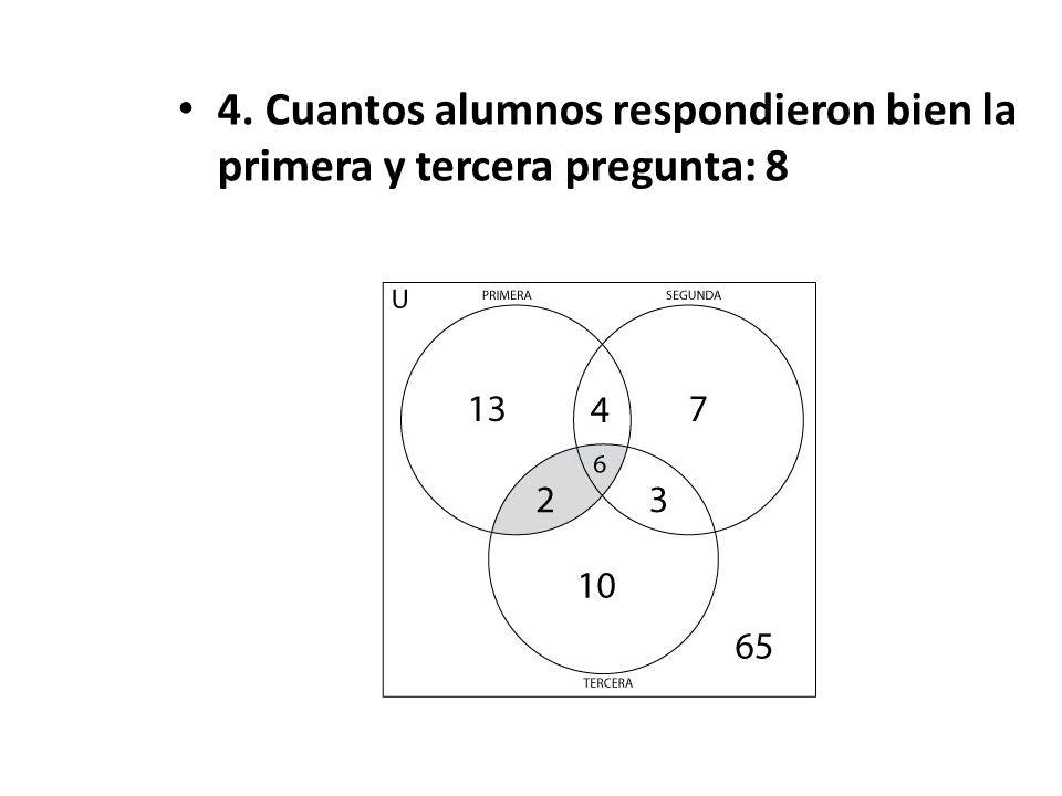 3. Cuantos respondieron bien la primera y segunda pregunta: 10
