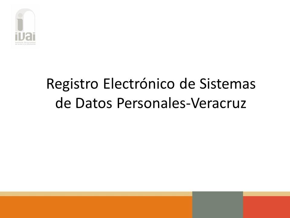 Registro Electrónico de Sistemas de Datos Personales-Veracruz