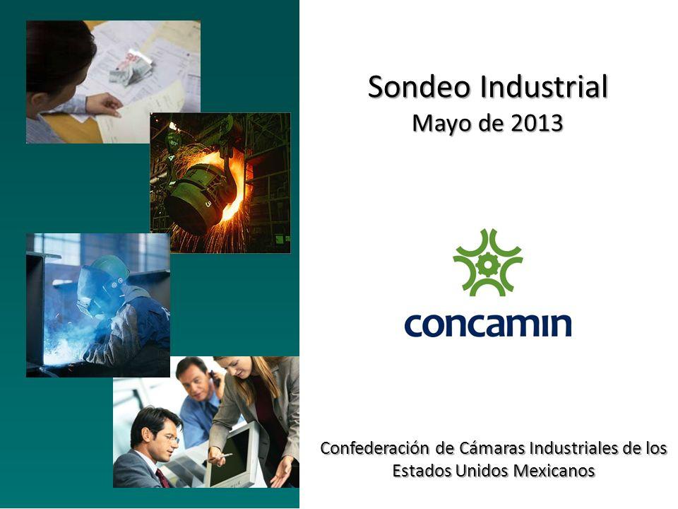 Sondeo Industrial Mayo de 2013 Confederación de Cámaras Industriales de los Estados Unidos Mexicanos
