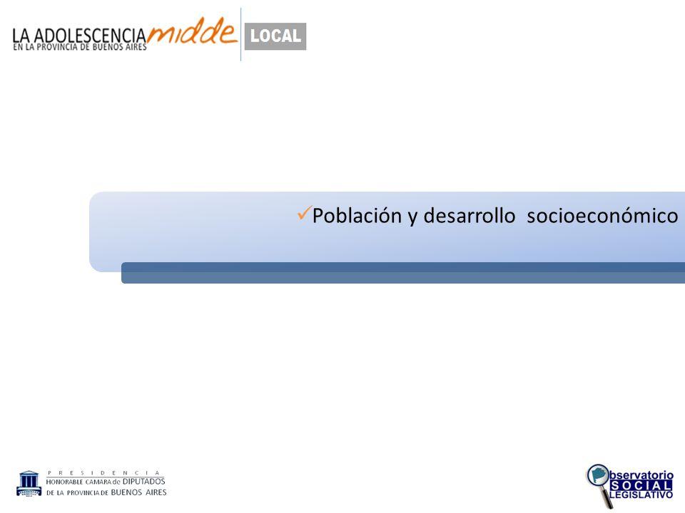 Población y desarrollo socioeconómico