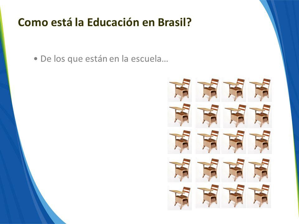 Como está la Educación en Brasil? De los que están en la escuela…