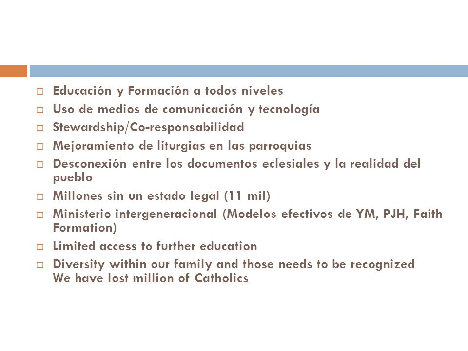 Motivate minorities to pariticpate (w/o fear) in political processes; alcen su voz (ex.