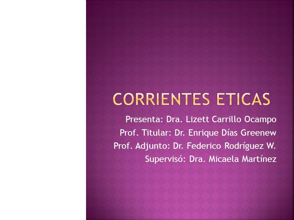 Presenta: Dra. Lizett Carrillo Ocampo Prof. Titular: Dr. Enrique Días Greenew Prof. Adjunto: Dr. Federico Rodríguez W. Supervisó: Dra. Micaela Martíne