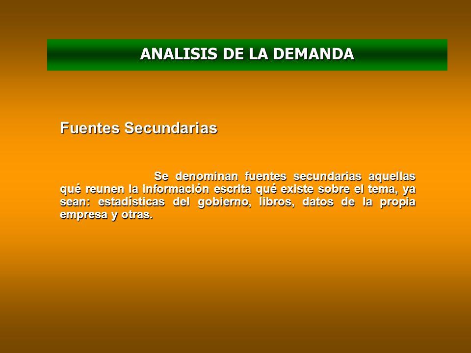 ANALISIS DE LA DEMANDA En relación con su DESTINO Demanda de Bienes Finales Demanda de Bienes Intermedios