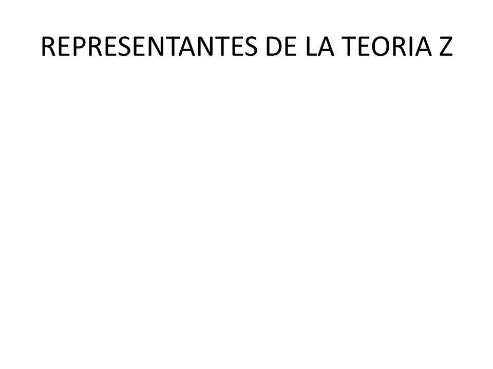 REPRESENTANTES DE LA TEORIA Z