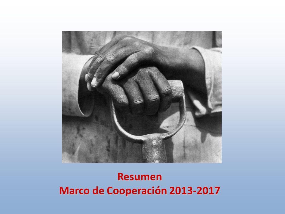 Resumen Marco de Cooperación 2013-2017